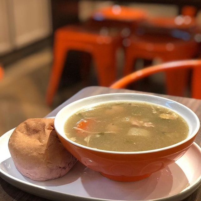 <🇩🇪> Jeder möchte lange leben, aber keiner will krank werden<🇬🇧> Everyone would love to live a longer life, However no one would want to be ill•🥘: Tokyo Chicken Stew - S$ 7.90📍: @thesoupspoonsg Singapore