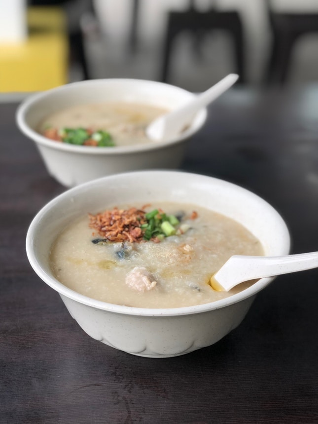 Meatball & Century Egg Porridge