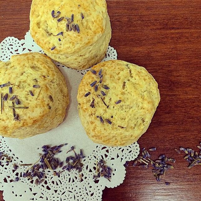 Lavender scones!