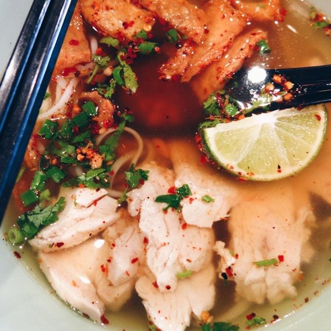 Sanook Chicken Mee Sua In Tom Yum Soup ($10.90)