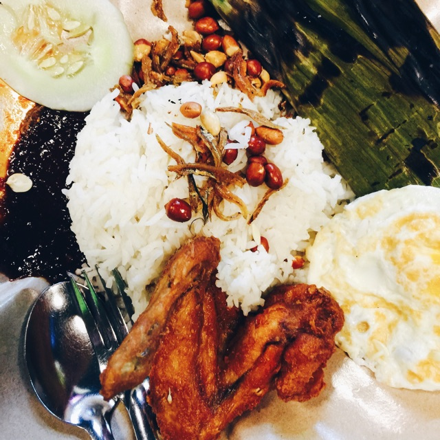 Nasi Lemak Chicken Set ($3.50 + $1 For Otah)