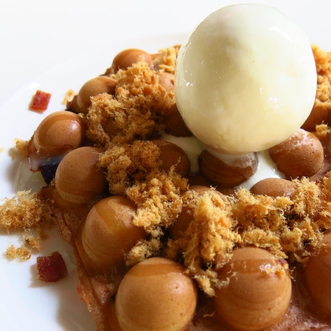 Bak Kwa & Pork Floss Egglette ($12)