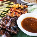 Barbecued meat on a stick?