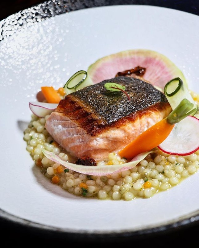 The standout dish from the media tasting at 51 Soho has got to be the Salmon & Pearl ($28).