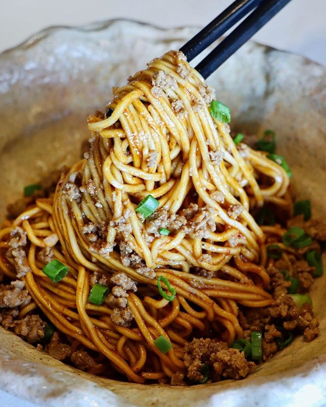 Another dish that you definitely have to order when you dine at Shisen Hanten is the dan dan noodles.