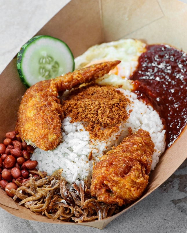 We clearly didn't expect much from this stall as all she wanted for a nasi lemak lunch.