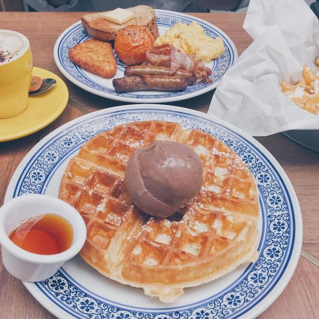 Waffle With Ice Cream X Grand Slam