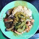 Squid, Bitter Gourd & Brinjal Curry Rice