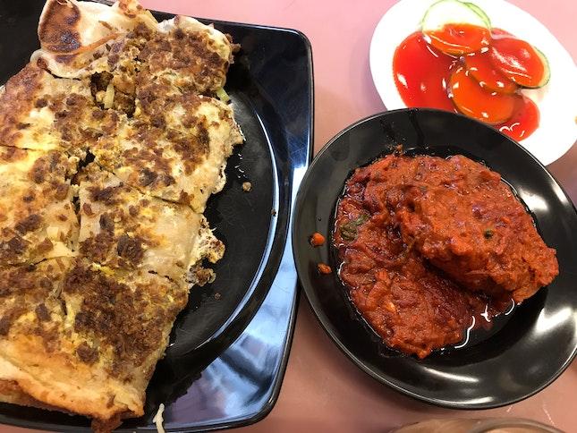 Mutton Murtabak & Fish Masala