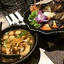 Appetizer Platter & Thai Boat Noodle