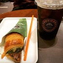 Matcha Chococro $2.60 & Ice Coffee $4.30