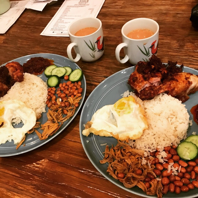 Nasi Lemak $12.80 & Hot Teh $2.50