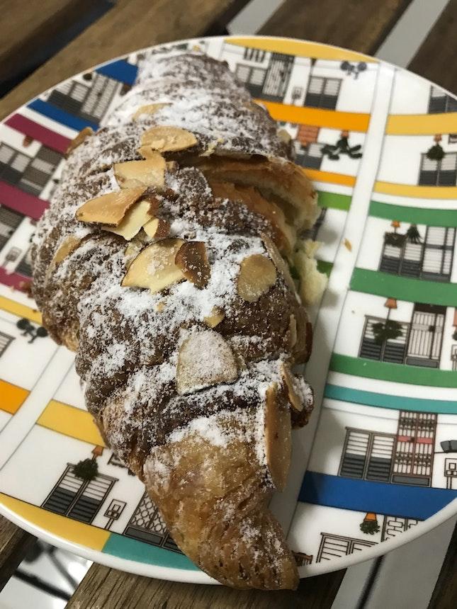 Almond croissant $3.80