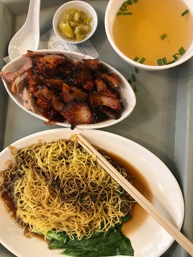 Set 11: Char Siew & Duck Wanton Noodle (Medium Size) $12