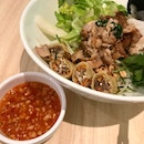 Fresh Noodle with Grilled Lemongrass Chicken & Spring Roll  $10.80