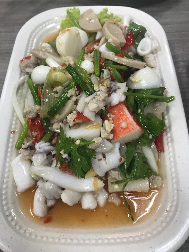 Mixed Salad (Yum mixed Seafood) $12