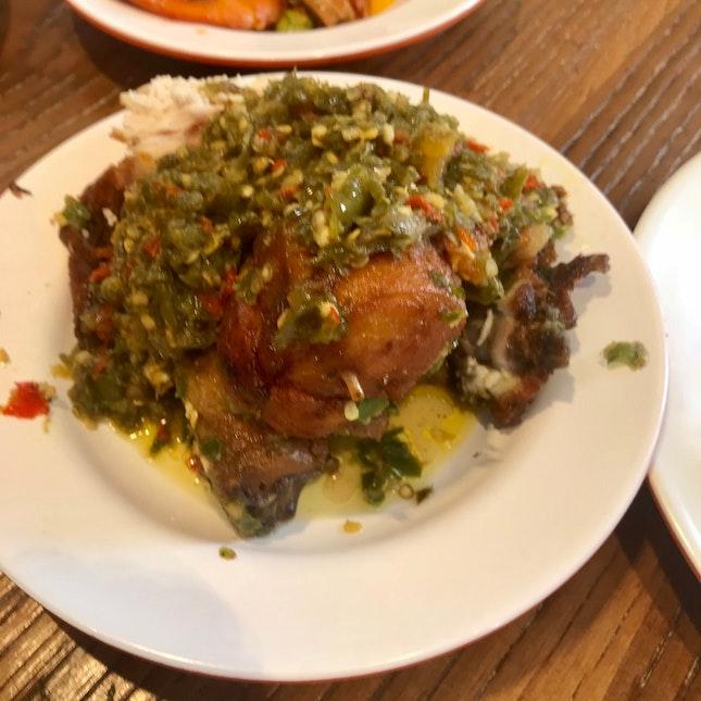 Ayam Belado Hijau $7.50 (2 Pcs Of Chicken)