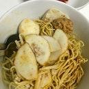Mee Pok Fishball Noodle $3.50
