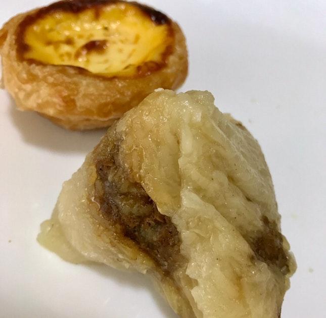Portuguese Egg Tart & Mini Nyonya rice Dumpling $1.80