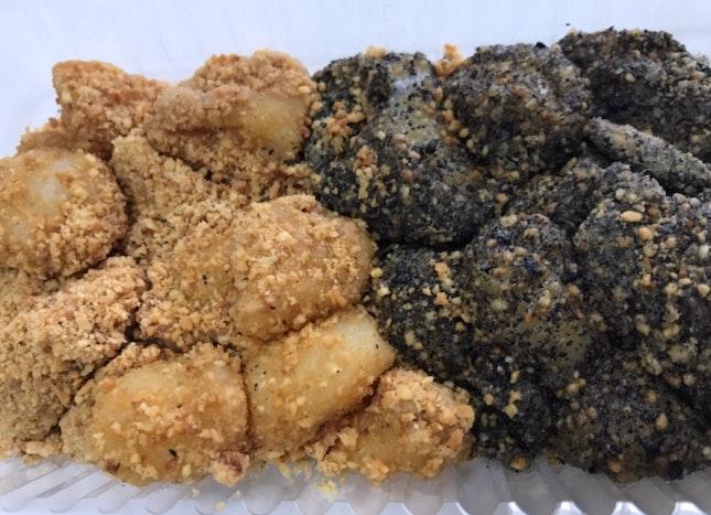 2 Flavours Muah Chee (Peanut / Sesame) $3.5