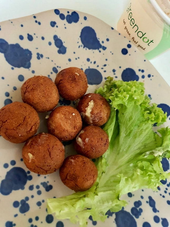 New! Chickpea Falafel Balls With Mayo Mustard Sauce (8pcs) $8.90