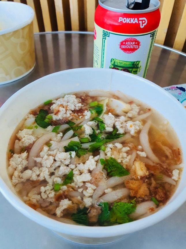 Whole Grain Mee Tai mak + Chestnut Drink ($6.90)
