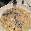 Housemade Gnocchi in Truffle cream sauce.