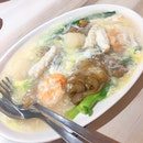 """Cantonese Fried """"Hor Fun"""" with Seafood."""