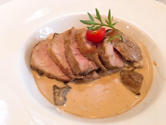 Filet Mignon De Porc Aux Cepes