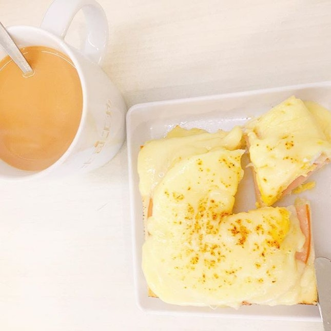 Cheesy ham & egg toast Set