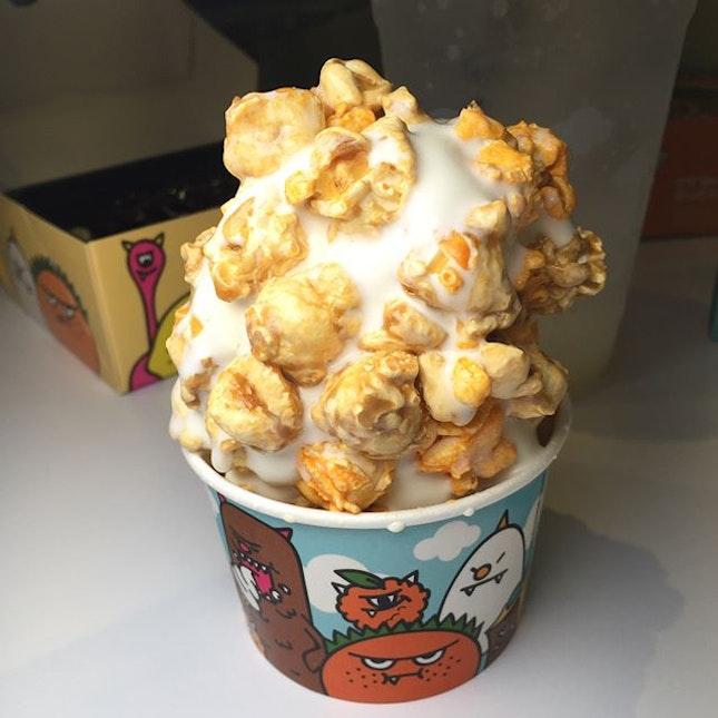Ice Cream With Popcorn