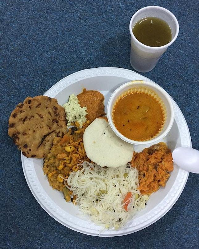 Tonite Indian vegetarian catered dinner 🥘