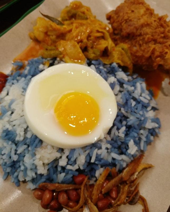 Blue Rice Nasi Lemak $5