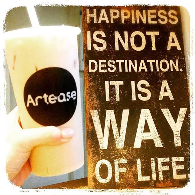 Wise words, washed down with a cuppa Salted Caramel Milk Tea to soothe the senses.