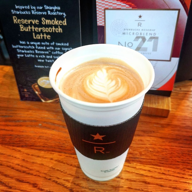 Starbucks Reserve Smoked Butterscotch Latte