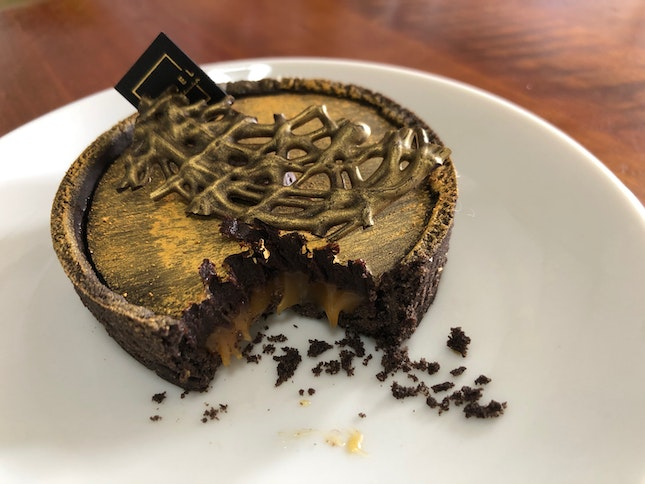 Awesome Chocolate Tart with Caramel Core!