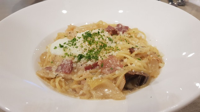 Truffled Carbonara Spaghetti