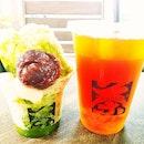 Macha Azuki Shaved Ice & Yuzu Black Tea