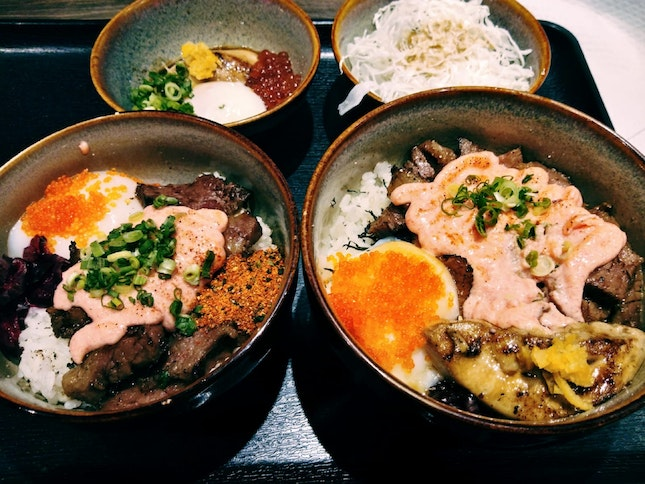 Mentaiko Wagyu Beef Bowl With Foie Gras