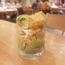 Hokkaido Matcha Soft Serve with Kuromitsu