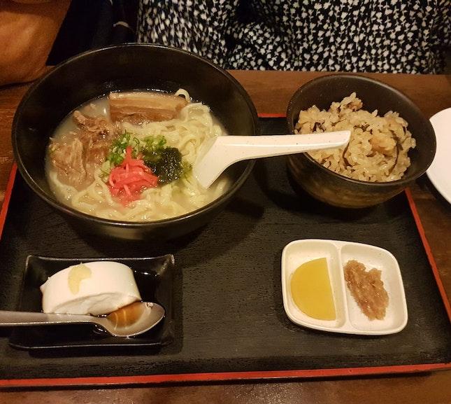 Okinawan Soup Noodle Set Meal