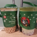 Earl Grey Latte + Azuki Matcha Milk
