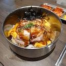 Crispy Samgyeopsal with Creamy Scrambled Eggs & SoyYuja Sauce