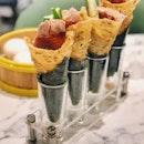 Peking Duck Salad Hand Roll ($5.80++ Per Roll)