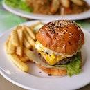 Long Black's Beef Burger ($15.90++)