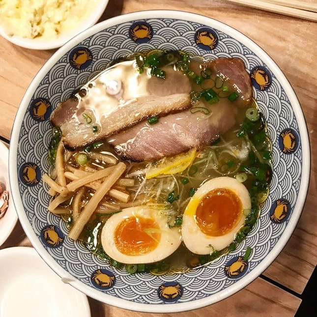 Crab Broth Ramen With Flavoured Eggs $14.90