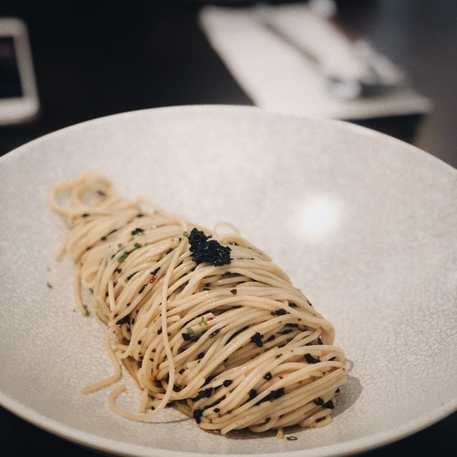 Cold Truffle Angelhair Pasta — $19