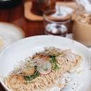 Scallops & Cold Pasta — $22