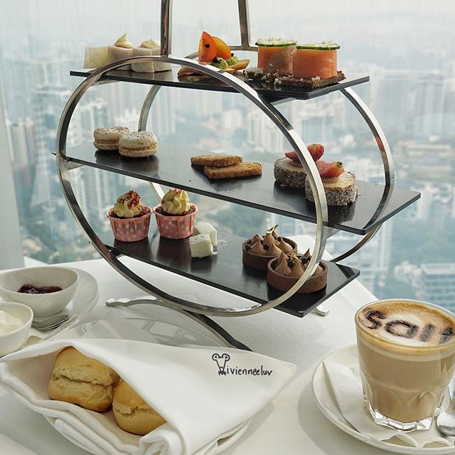 Today's [Afternoon Tea Platter S$38++/person (comes up to S$45 per person) inclusive a tea/coffee, all items non-refillable].