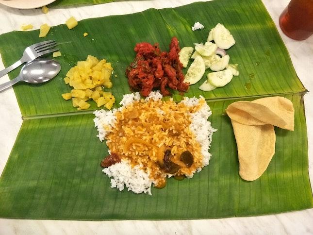 Banana Leaf Rice (RM8)
